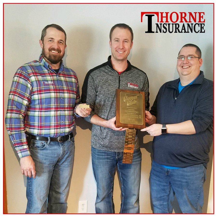 Thorne Insurance receives awards from Indiana Farmers