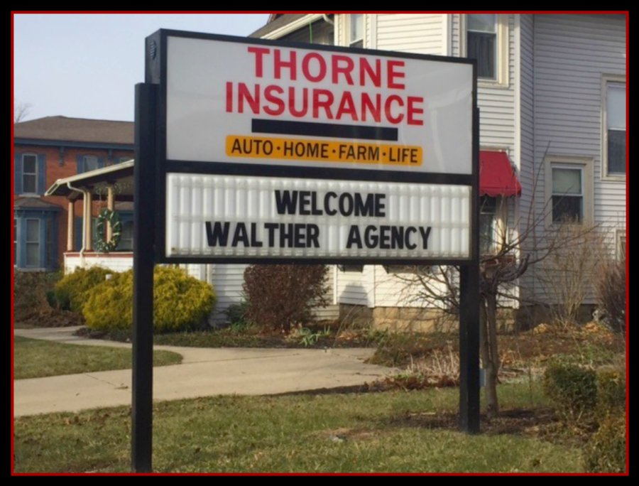 Walther Insurance Agency, Inc. merged with Thorne Insurance Agency North Manchester, Inc. effective January 1, 2017